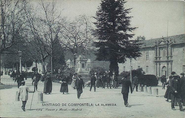 Alameda y San Clemente en una foto de principios del S. XX