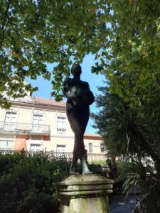 Estatua en Finca Simeón