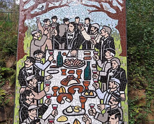 Mosaico del Banquete de Conxo