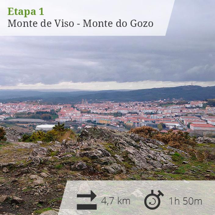Etapa 1 Monte Viso - Monte do Gozo